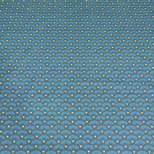 Coton paon doucet turquoise