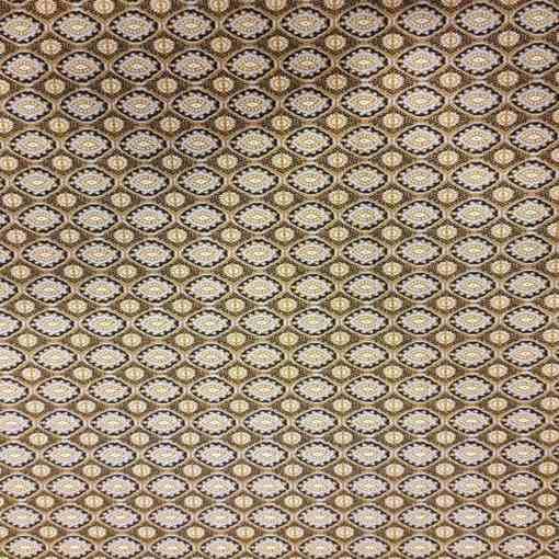 Coton motif indien marron