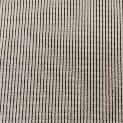 Tissu polyester rayure ton blanc