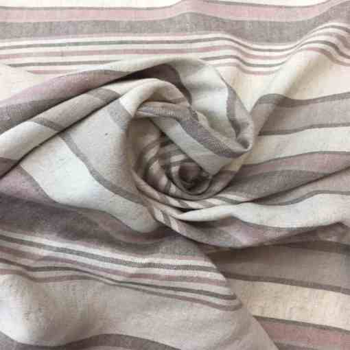 Tissu lin viscose rayure motif 1