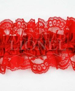 jartelle rouge avec dentelle rouge