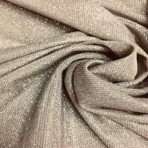 Jersey lamé polyester caméléon or changeant argent