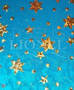 laser etoile turquoise et or