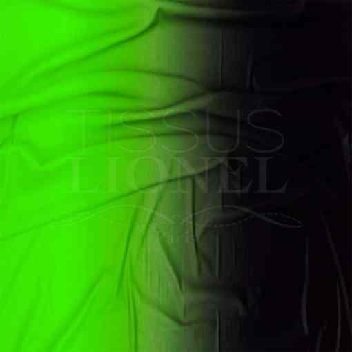 lycra dégradé vert fluo et noir