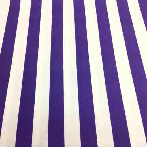 Lycra imprimé fond blanc rayure violet