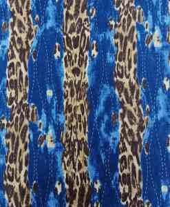 Lycra imprimé jean leopard
