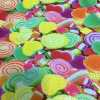 Lycra printed glittery candy
