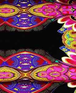 Lycra imprimé motif indien