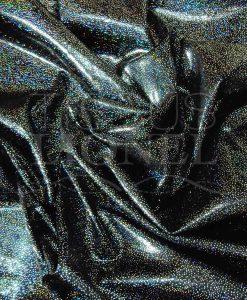 lycra pailleté hologramme série 2 fond noir pailleté argent hologramme
