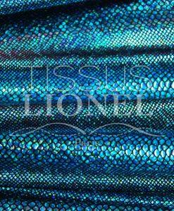 Lycra schwarz glitzernder Hintergrund Schlange türkis Hologramm Pailletten