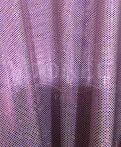 Lycra pailleté fond blanc pailleté fuschia hologramme