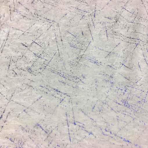 Lycra velours fond blanc pailleté bleu