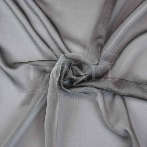 mousseline changeante deux files gris clair
