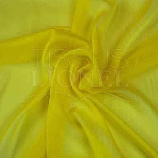mousseline changeante deux files jaune