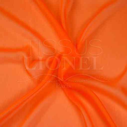 mousseline changeante deux files orange fluo