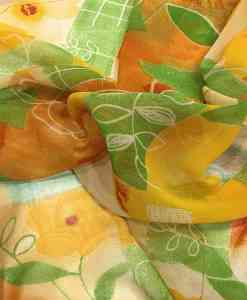 Tissu mousseline imprimé automne