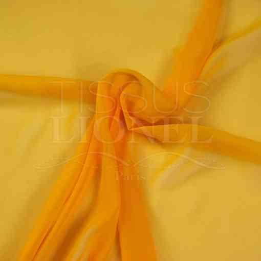 mousseline uni bouton d'or