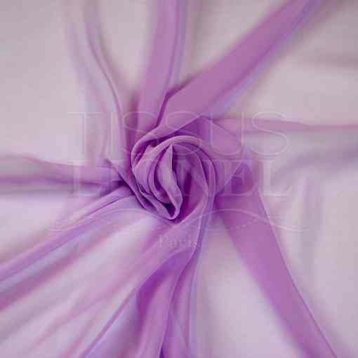 mousseline uni lilas foncé
