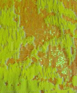 pailleté nacré jaune fluo