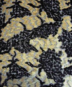 pailleté tie and dye noir et or