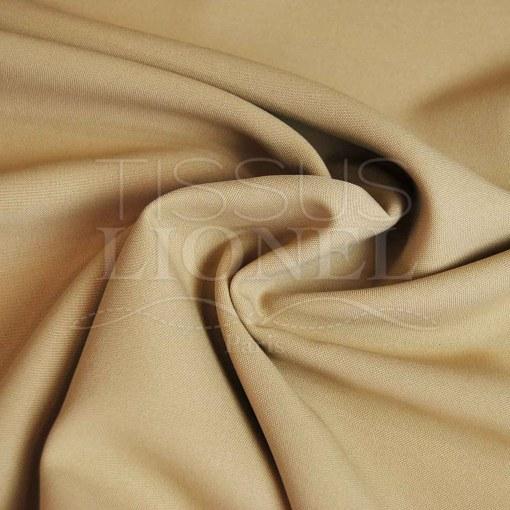 polyester toille uni beige