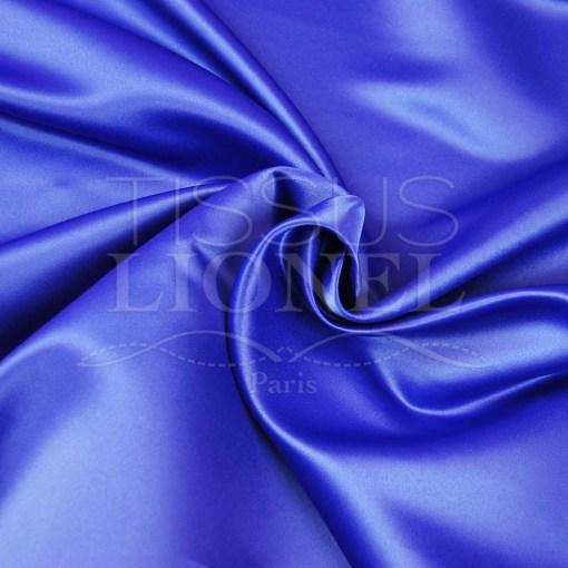 satin duchesse bleu royal