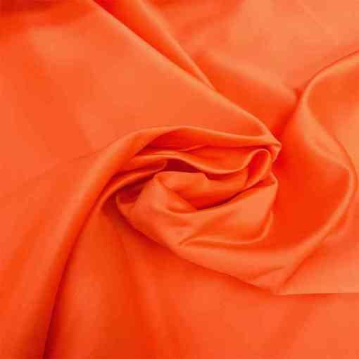 Satin duchesse orange vif