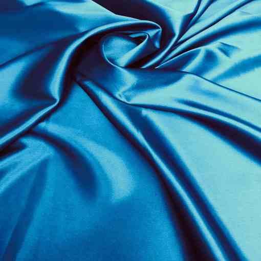 Satin lycra bleu canard