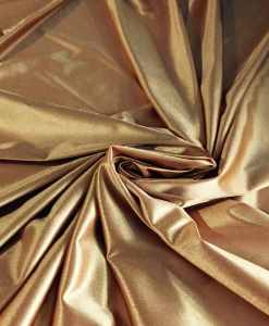 Satin maille charmeuse or