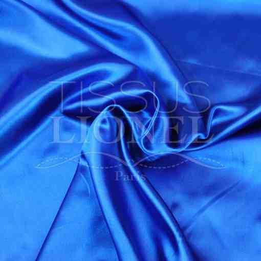 satin uni bleu royal