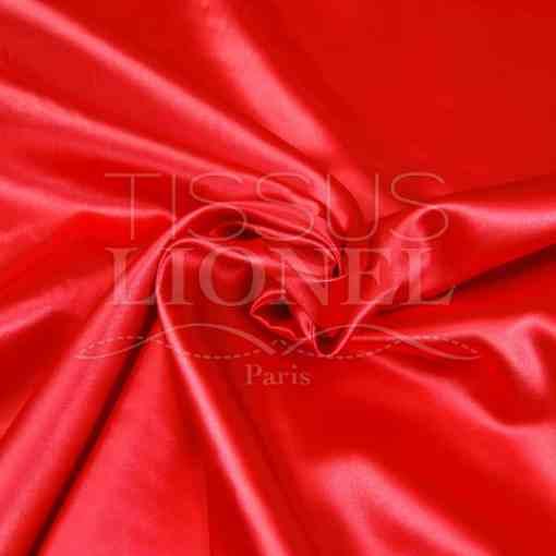 satin uni rouge