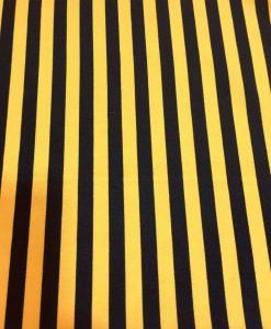 Tissu Burlington jaune rayure noir