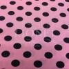 Tissu burlington petit pois noir sur fond bois de rose 22 mm