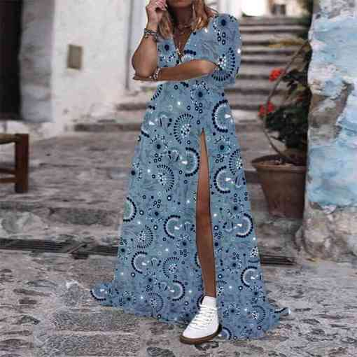 Tissu coton attrape bonheur bleu jeans