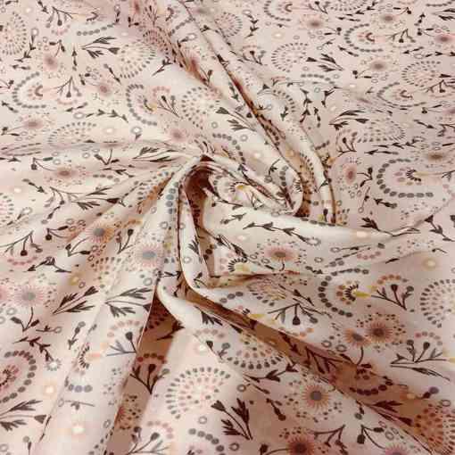 Tissu coton attrape bonheur nude