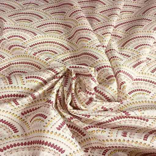 Tissu coton batik Sri lanka écru