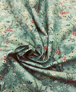 Tissu coton fleuris jardin printanier