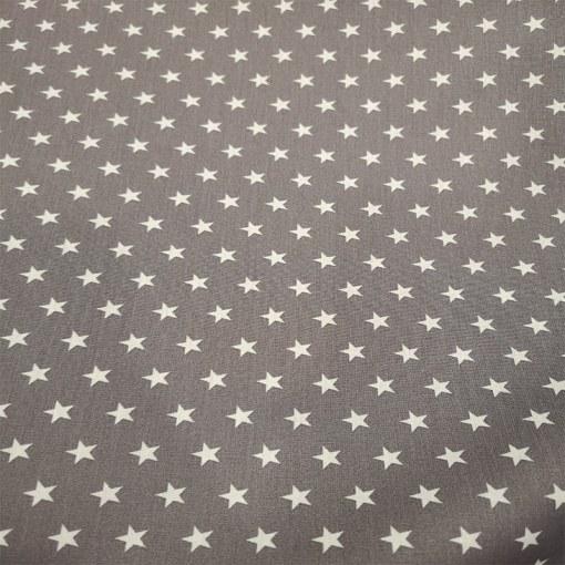 Tissu coton gris petite étoile