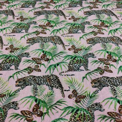 Tissu coton léopard