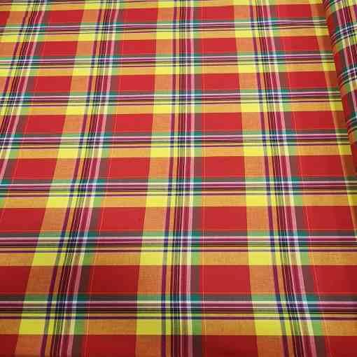 Tissu coton madras 082