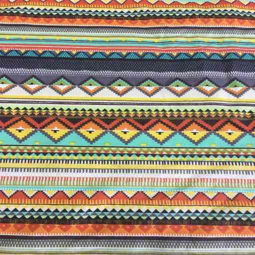 Tissu coton mexicain ivoire