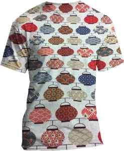 patrón de la tela de algodón impresa Tetera japonesa