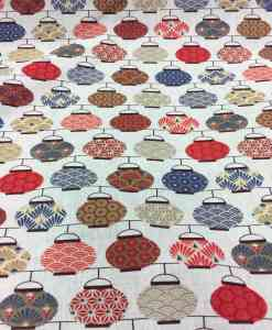 рисунок ситцев ткань японский чайник