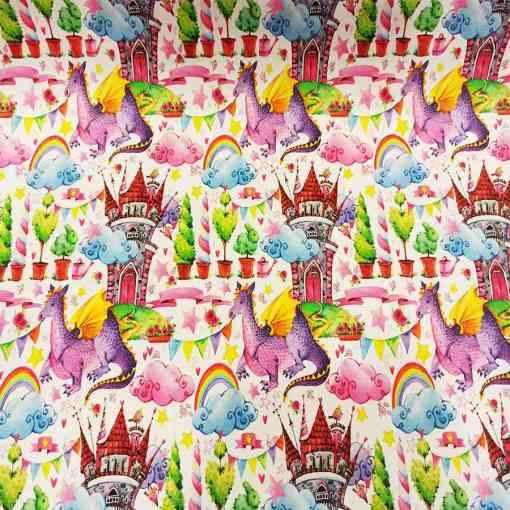 Tissu coton royaume féerique
