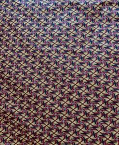 Tissu coton style Wax Africain kita jaune