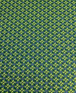 Tissu coton style Wax Africain kita vert