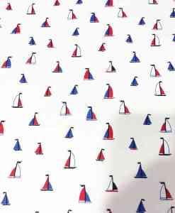 Tissu coton voilier tricolor