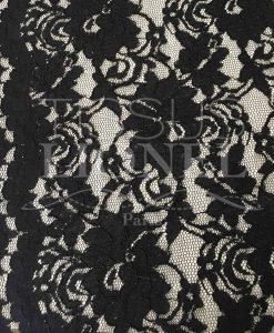 Tissu dentelle couture festonnée noir