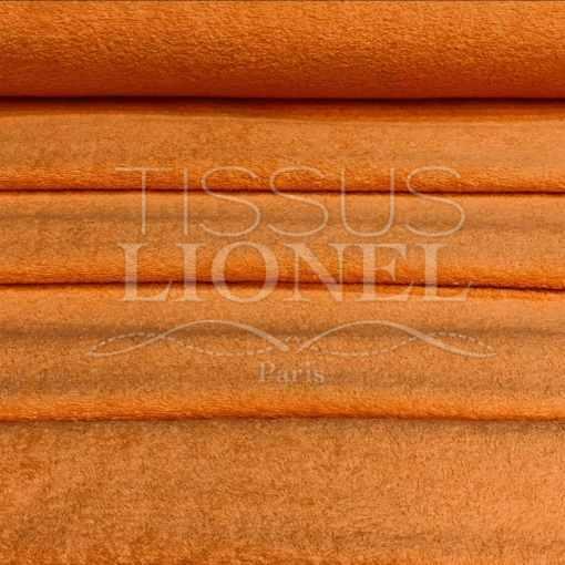 Tissu eponge abricot