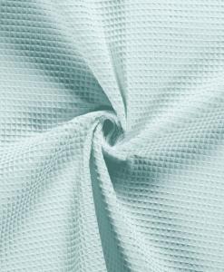 Tissu éponge nid d'abeilles vert d'eau